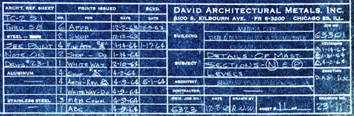 Marina city history broadcast tower blueprints broadcast tower blueprint 1963 64 detail david architectural metals inc malvernweather Choice Image